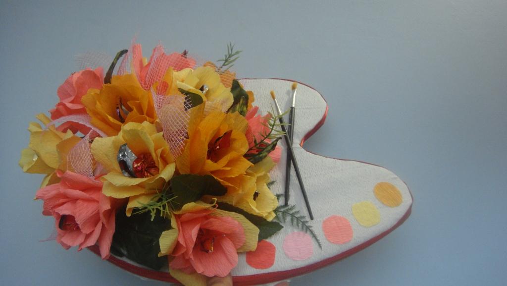 Цветочная композиция из живых цветов своими руками на день учителя 98